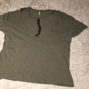 LF distressed tee shirt with cute front
